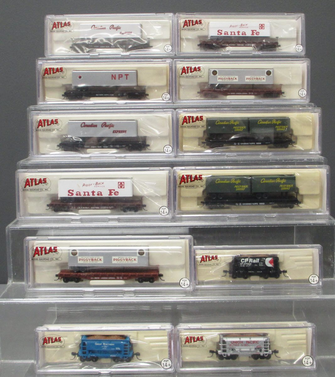 Buy Atlas N Scale Assorted Freight Cars [12] LN/Box | Trainz Auctions