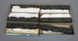 Athearn HO Scale Undecorated Green Passenger Cars [6]/Box