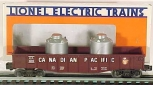 Lionel 6-6205 Canadian Pacific Long Gondola w/Canisters LN/Box
