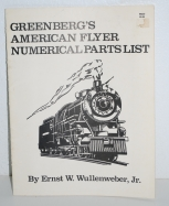 American Flyer Greenberg's Numerical Guide Inventory 1985 Parts Service 20 pages