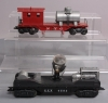 Marx 4583 GEX Searchlight Car & New York Central Rail Sweeper Car/Box  Marx