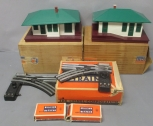 Lionel 132 Illuminated Automatic Stop Station & O22 LH & RH Remote Switch Pair [