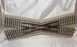 Lionel 6-12050 Fastrack 22.5 degree Crossover w/extensions unboxed roadbed track