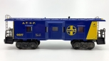 Lionel 6-9317 AT&SF Blue & Yellow Bay Window Caboose EX