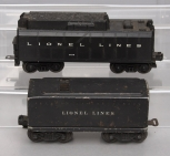 Lionel 243W Operating Whistling Tender & 6654W Sheet Metal Operating Whistle Ten
