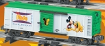 American Flyer 6-48356 PLUTO Railroad Disney Mickey Boxcar unique art each side