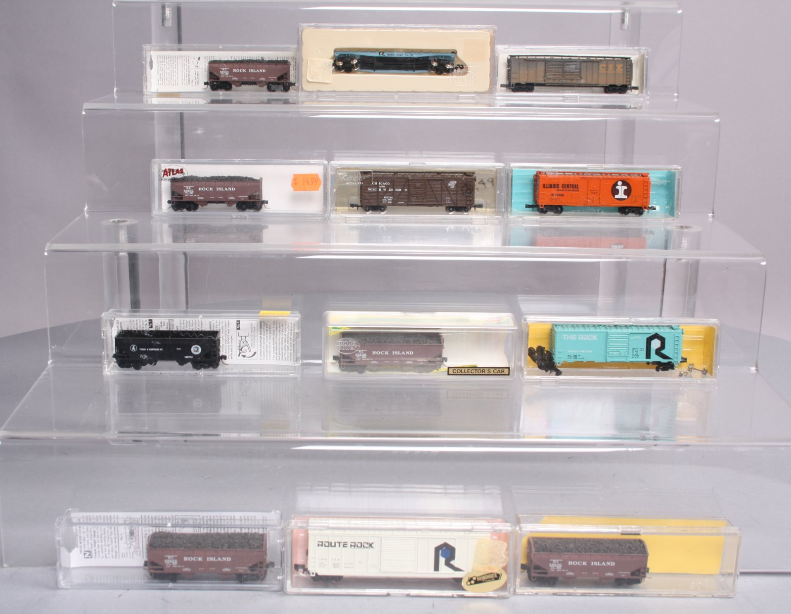Buy N Scale Assorted Freight Cars: CSX, RI, IC, [12] | Trainz Auctions