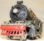 Prewar Lionel Trains black 260E Steam Engine &Vandy style Tender Green base 30s