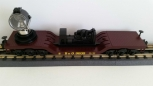 MTH 30-7010C Baltimore & Ohio Flatcar w/ Operating Searchlight