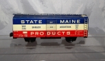 """Marx 6"""" tinplate State of Maine BAR #4496 Red White Blue patriotic boxcar 1 of15"""