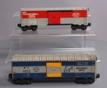 Lionel O Postwar Boxcars: 6464-125 NYC Pacemaker & 6464-150 Missouri Pacific - T