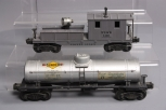 Lionel 2420 D&LW Variation C  Searchlight Wrecking Car & 2555 Sunoco Single Dome