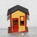 AC Gilbert ERECTOR Shack Hut Metal Construction toy vintage black painted roof