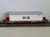 Here is a MTH 20-98681 Western Maryland Flat Car w/ 48' Trailer. This car features die-cast met