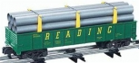 American Flyer 6-48526 S Scale Reading Gondola With Pipes LN/Box