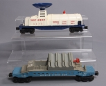 Lionel 3470 Operating Balloon Target Launcher & 6544 Missile Firing Car