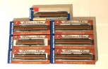 NEVER OPENED Set of 7 Walthers Milwaukee Road 1955 Twin Cities Hiawatha Passenger Cars