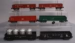 American Flyer S Scale Assorted Postwar Freight Cars; 941, 911, 920, 931, 24110,