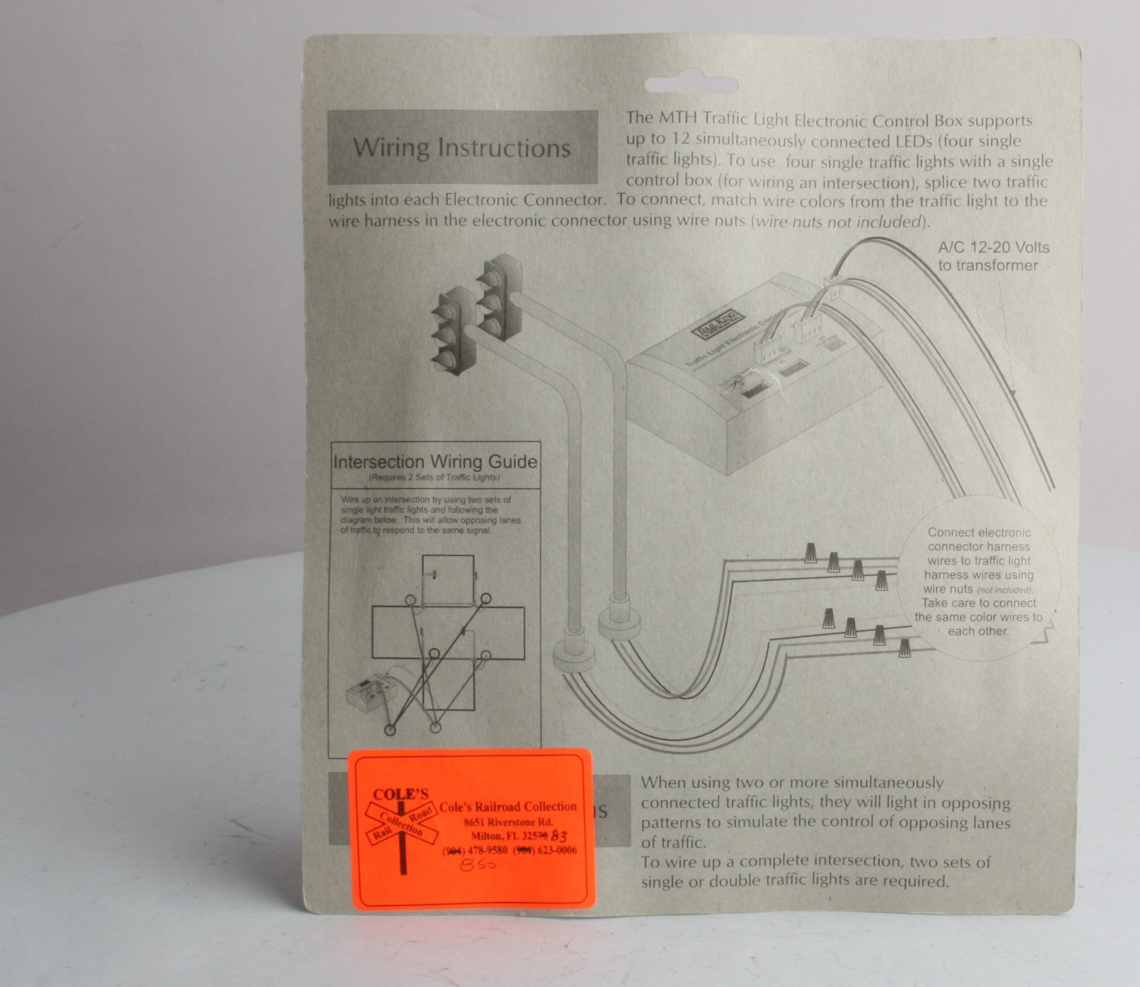 Mth Transformer Wiring Diagram Library Intersection 30 1089 1 Operating Traffic Light Set Nib 658081e 11
