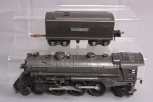 Lionel 224E Gunmetal Die-Cast 2-6-2 Steam Locomotive w/Tender
