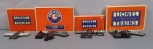 Lionel O Scale Assorted Switches/ Turnouts, Crossovers & Track Section (4)/Box