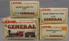Lionel O Gauge The General Steam Loco w/ Passenger & Freight Cars (4)/Box