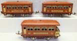 Lionel Set Terra Cotta 529 529 530 O27 gauge 1926-32 prewar marron & cream 4whel