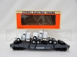 Lionel 6-17515 Norfolk Southern Flatcar Standard O w/2 Triple Crown Tractors on