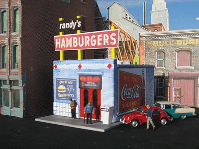 Downtown Deco 1038 HO Scale Randy's Burgers Kit NIB  Downtown Deco 1038