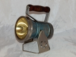 "VINTAGE Star Headlight & Lantern Blue metal  Railroad 11"" conductor Starlite 292"