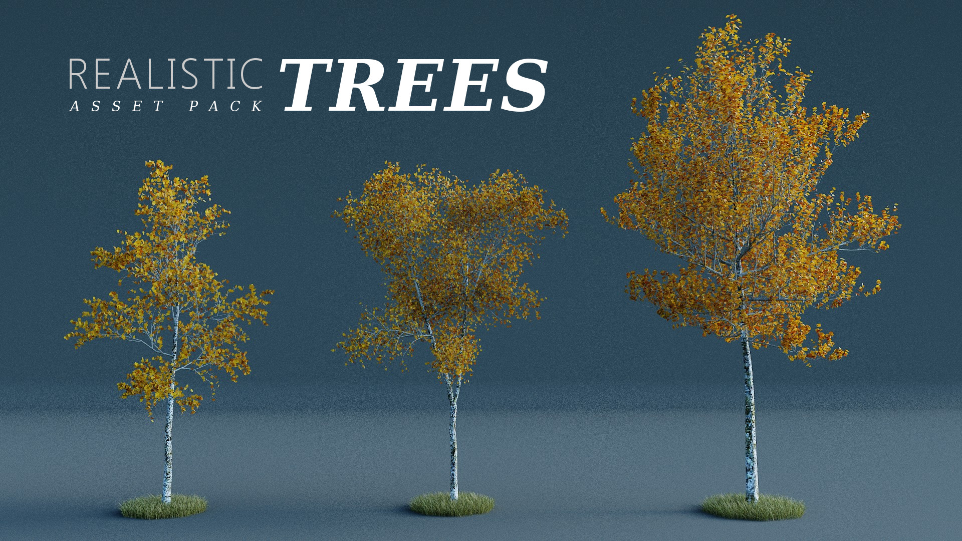 REALISTIC TREES ASSET PACK Vol  01