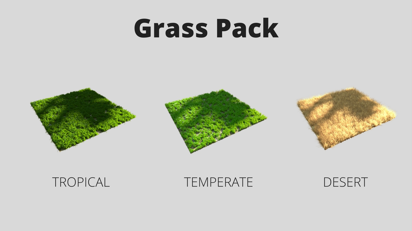 Grass Pack- Tropical, Temperate and Desert
