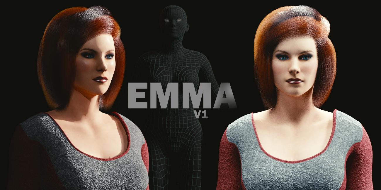 Hair Style 3d Image: Blender MarketEmma- Rigged