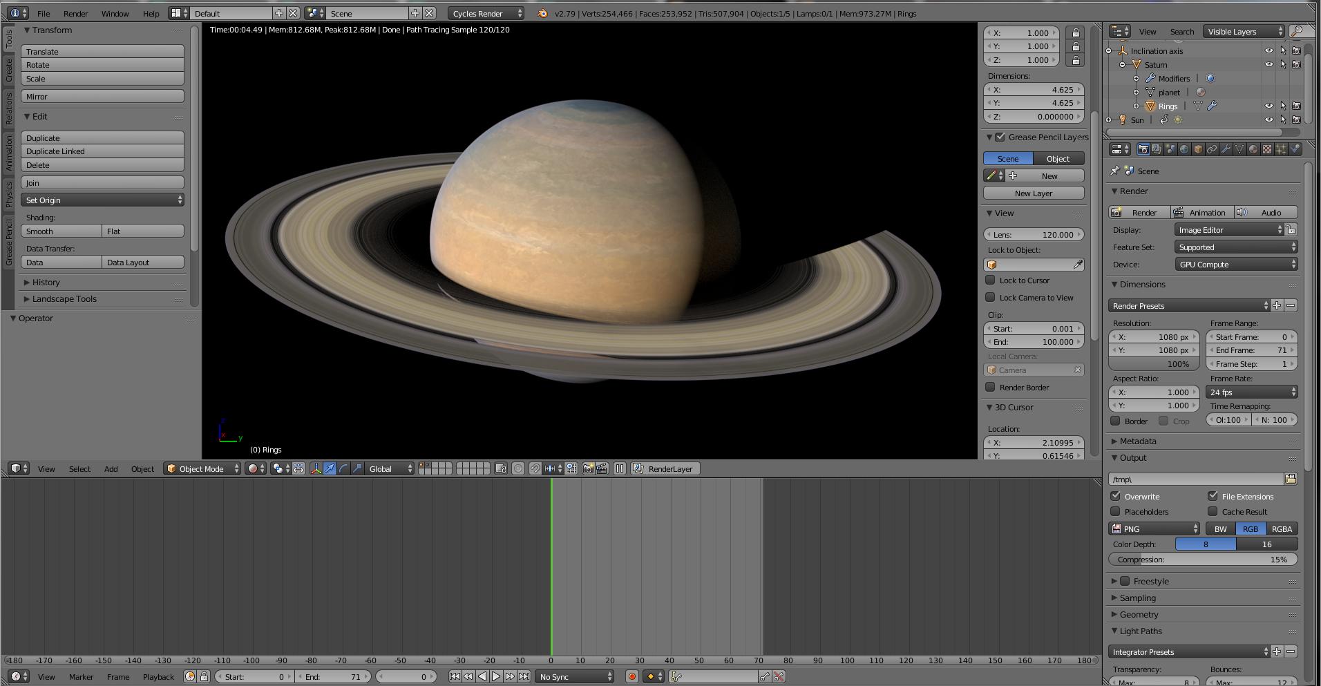 Photorealistic Saturn 16k textures