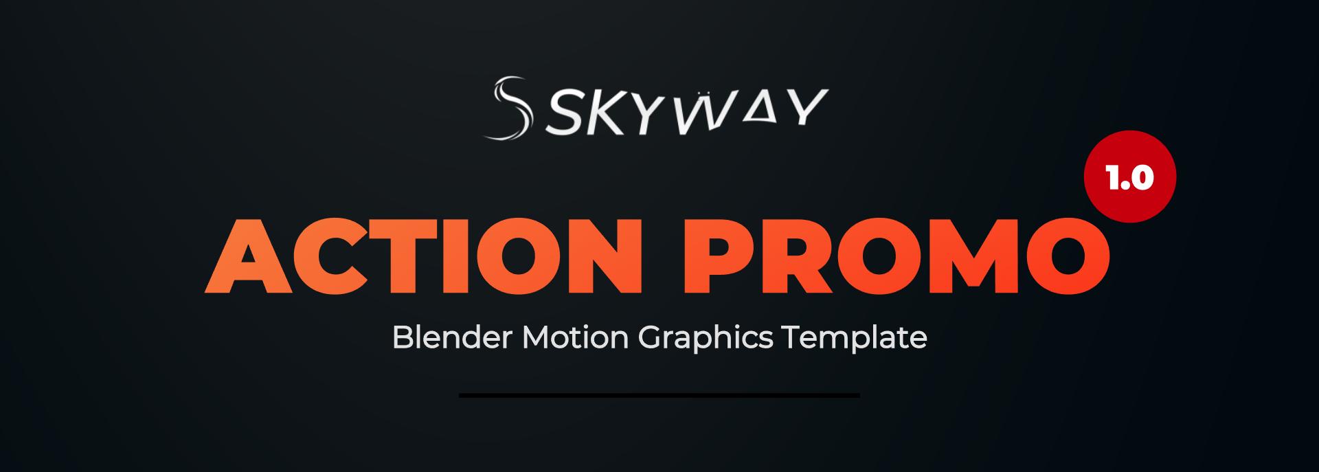 Blender Template | Action Teaser Promo Blender Video Template Blender Marketaction
