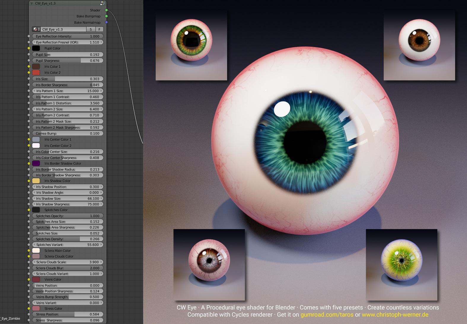 CW Eye - A procedural eye material