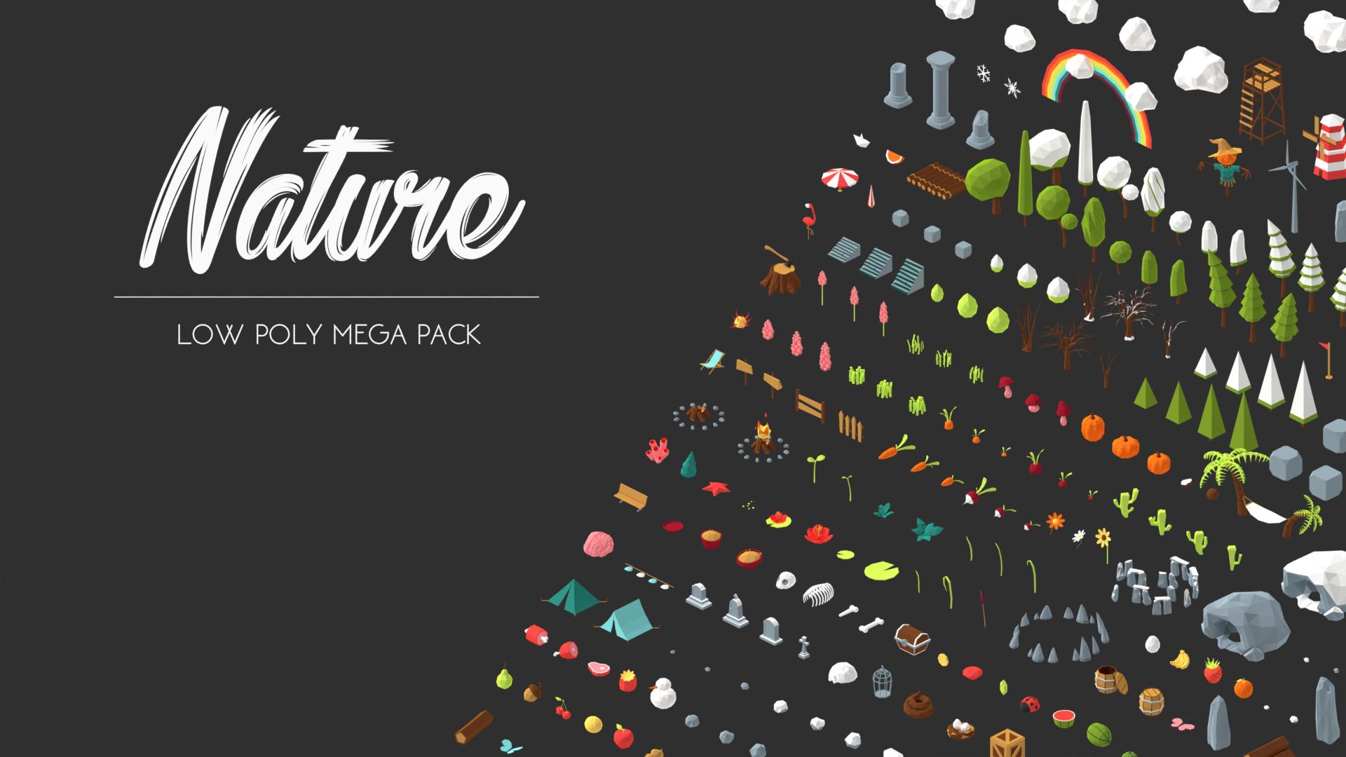 Nature LOW POLY Asset Pack (Blender/Unity 3D)