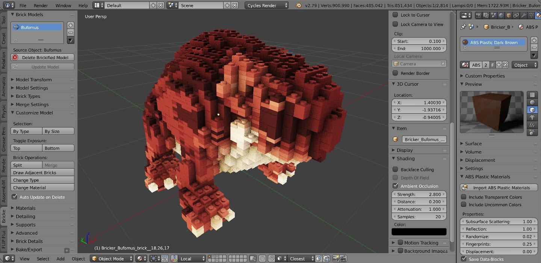 Bricker – Photoreal LEGO/Minecraft Simulations
