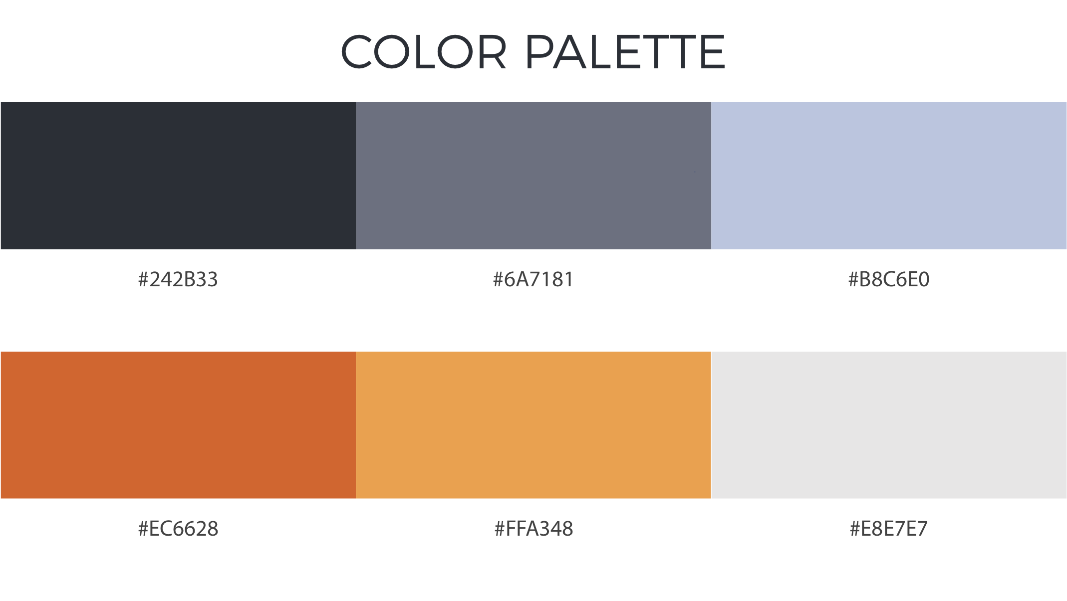Blender Market branding color palette