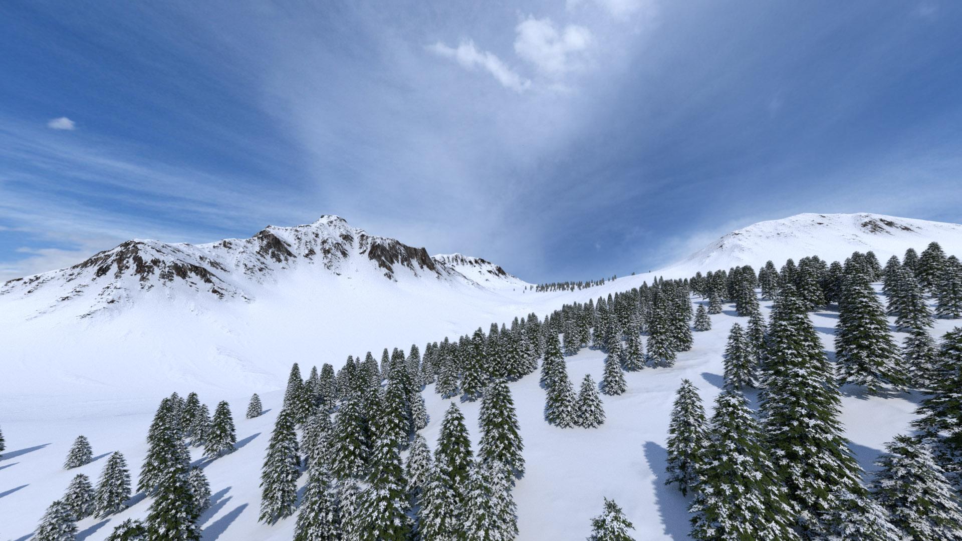 Snow Landscape Builder - Blender Market