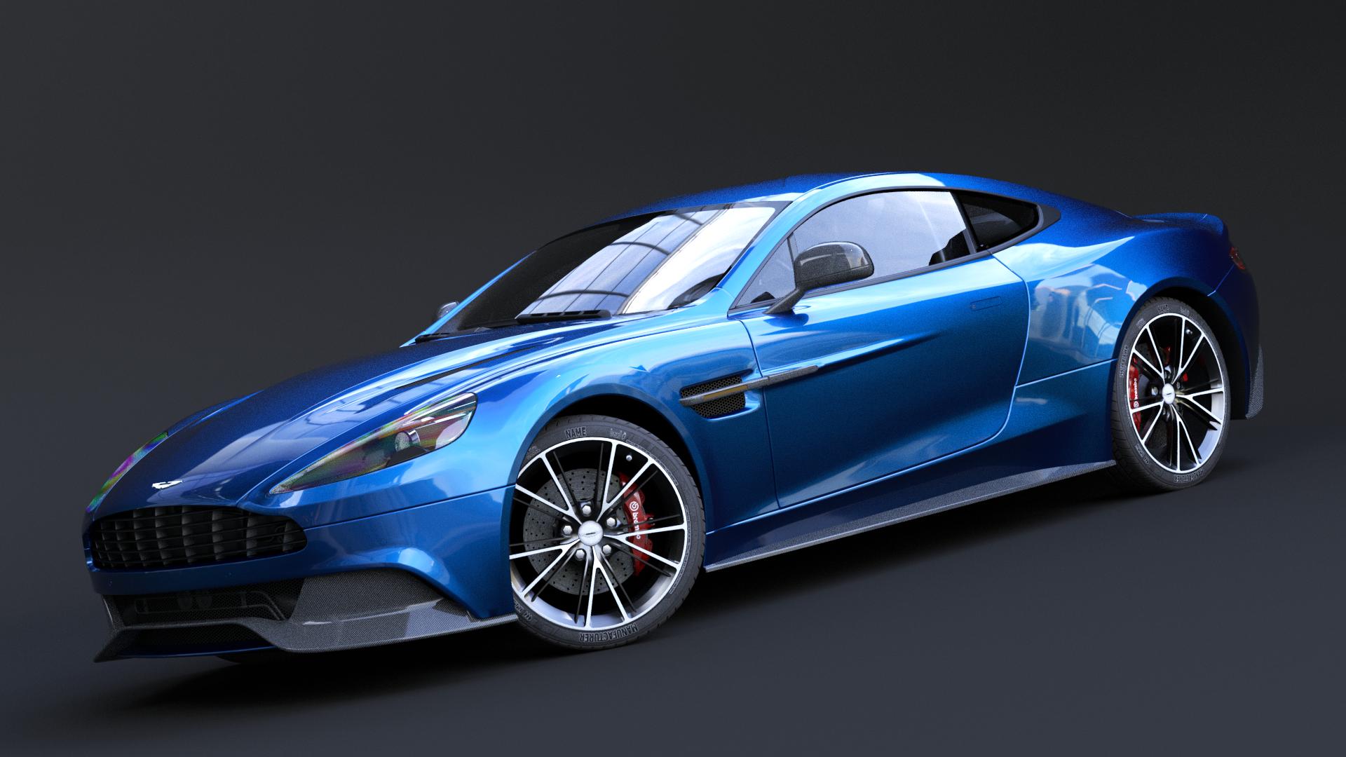 Aston Martin Vanquish Rigged Car Blender Market