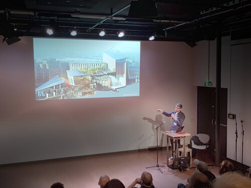 Dimitar presenting at Blender Conference 2019 in Amsterdam