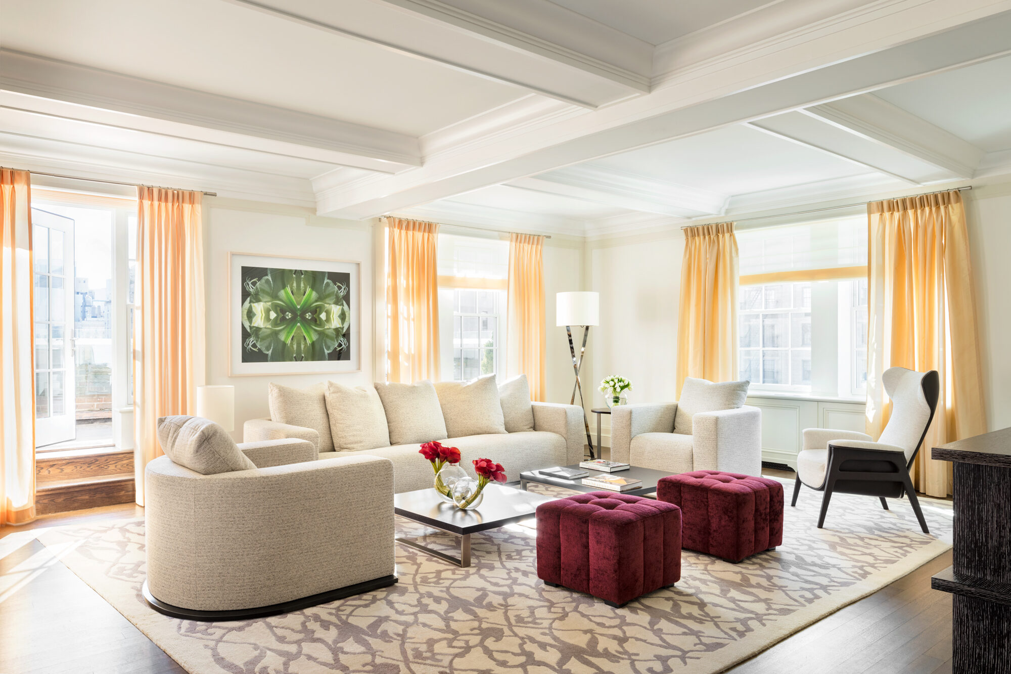 terrace living room luxury five bedroom hotel suite in nyc the hotel 10997