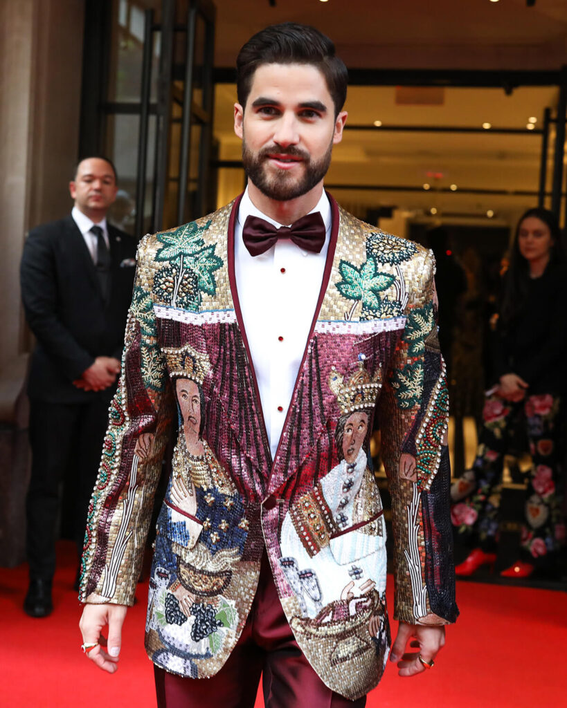 Darren Criss at the Mark Hotel, Met Gala 2018