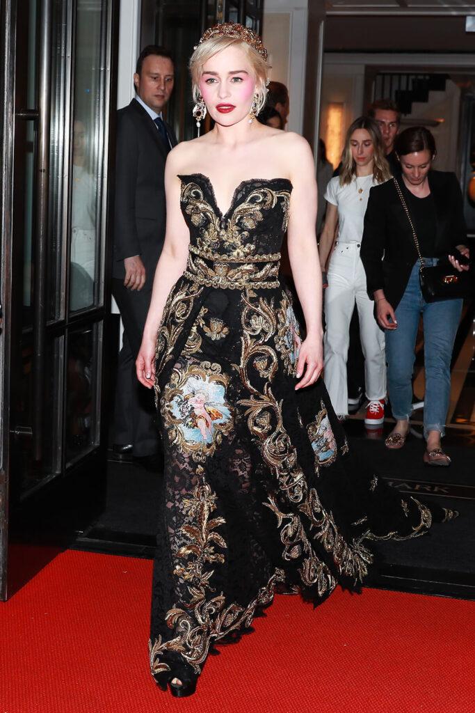 Emilia Clarke at the Mark Hotel, Met Gala 2018