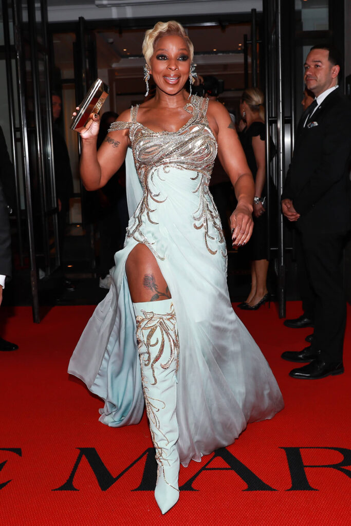 Mary J Blige at the Mark Hotel, Met Gala 2018