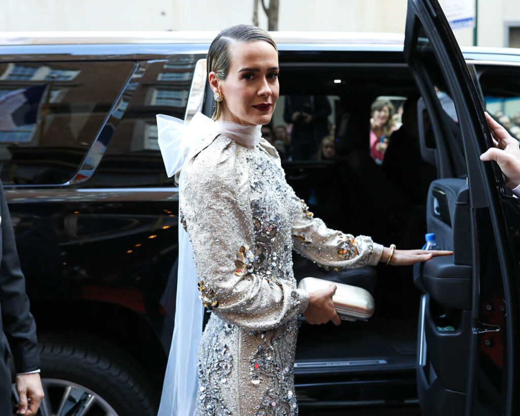 Sarah Paulson at the Mark Hotel, Met Gala 2018