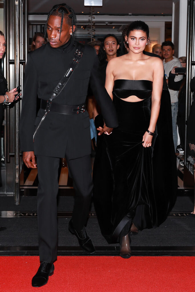 Travis Scott & Kylie Jenner at the Mark Hotel, Met Gala 2018