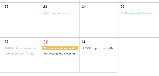 calendar events angular
