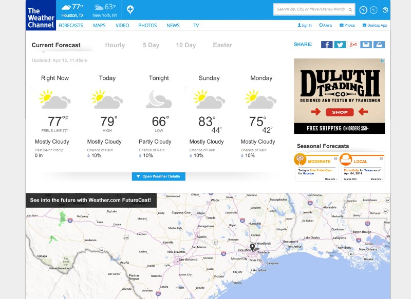 weather.com detail page corrected